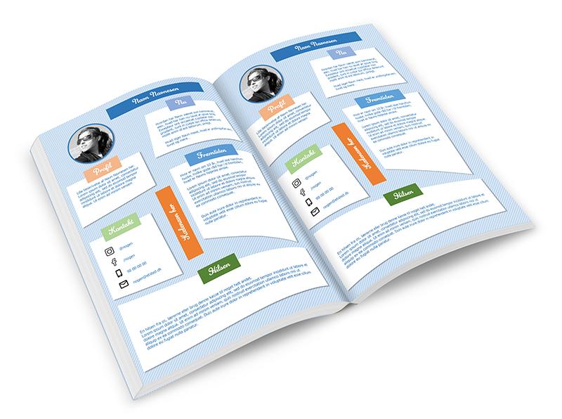 design af indhold til blå bog